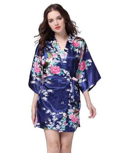 Peignoir blue asian