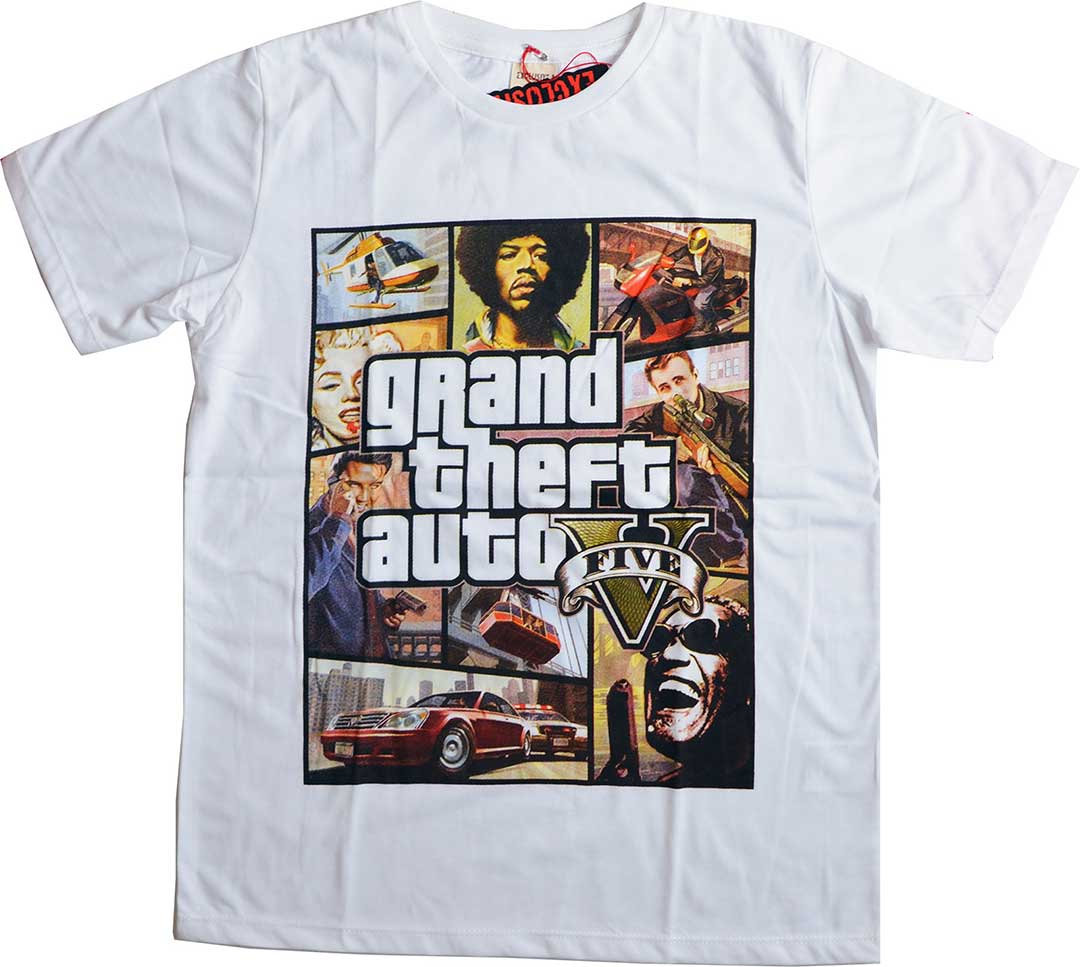 Tshirt Rock and stars Gta Parody