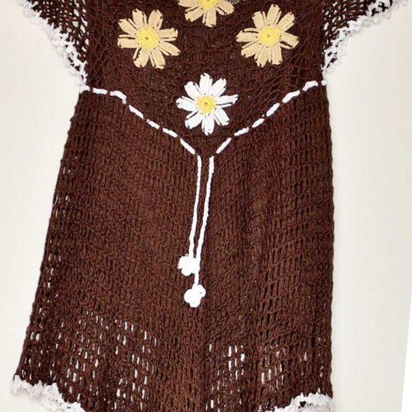 top crochet brown