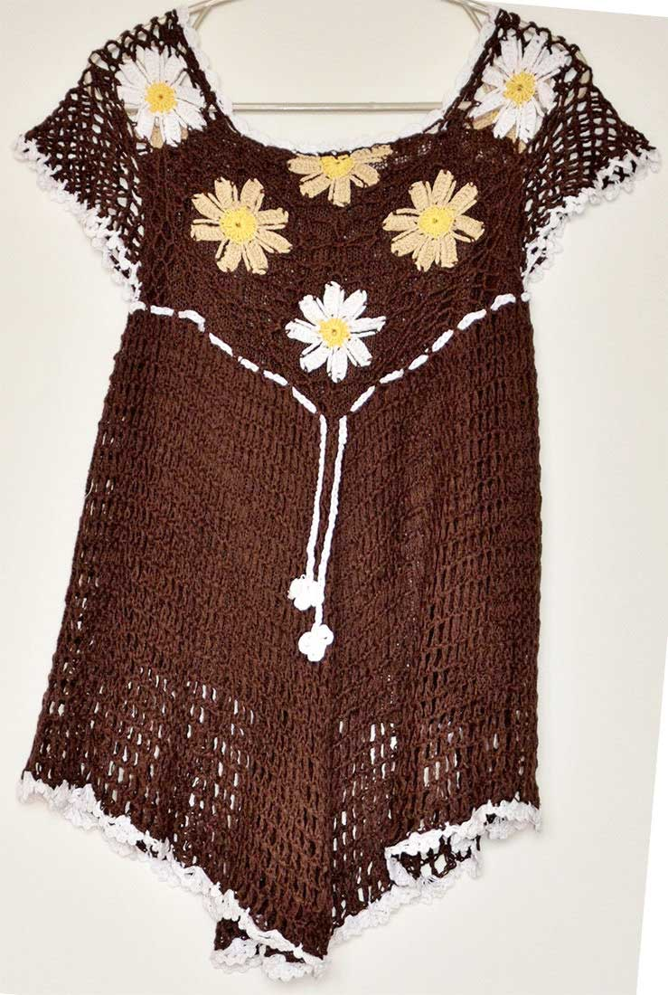 top crochet brown